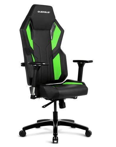 Quersus Vaos 502 Siege Gamer Simili Cuir Noir Vert M Xl Gaming Chair Chair Chaise