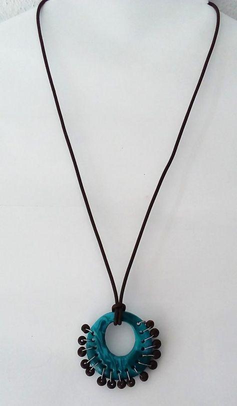 Murano Style Anhänger Pfau Auge Türkisblau