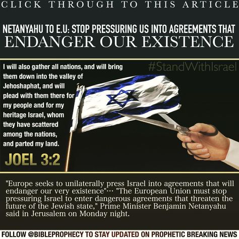 Click Through To This ArticleNetanyahu To Eu Stop Pressuring Us
