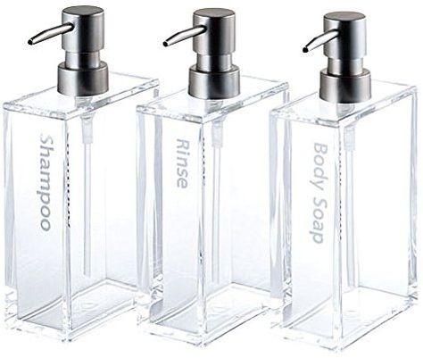 ac15adf8c917 Shampoo Conditioner Pump, Lotion Bottles with Caps, Amber Bottles ...