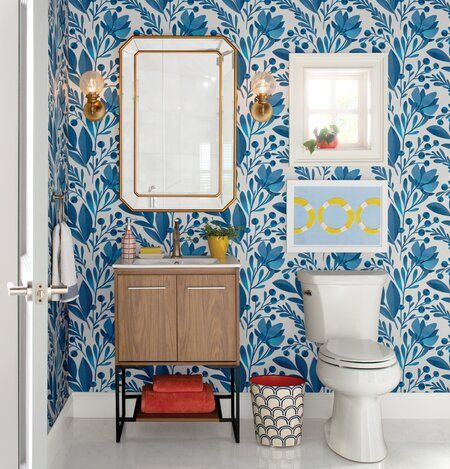 Kid S Bathroom Update New Vanity Peel Stick Wallpaper Peel Stick Floor Tiles Shiplap Peel And Stick Floor Round Mirror Bathroom Ship Lap Walls