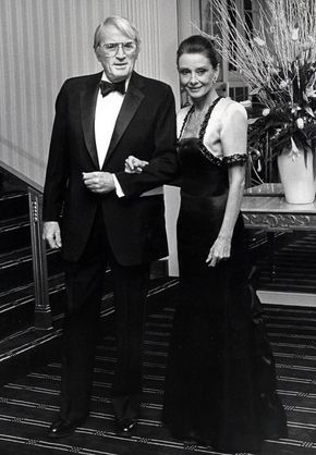 Audrey Hepburn Forever - Audrey and Gregory Peck photographed in 1988.