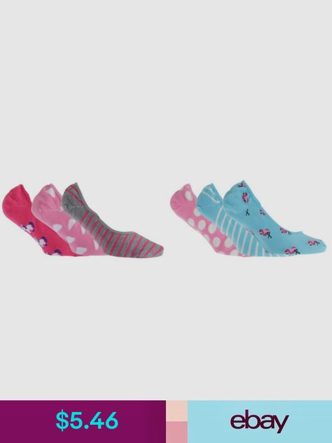 Foxbury Womens//Ladies Invisible Trainer Socks 3 Pairs W501