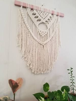 Macrame Wall Hanging Color Collection Design 2 Macramewallhanging Modern Modernhome Macrame Pink Macrame Wall Art Macrame Wall Hanging Diy