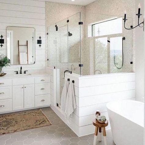 modern farmhouse master bathroom,modern farmhouse bathroom