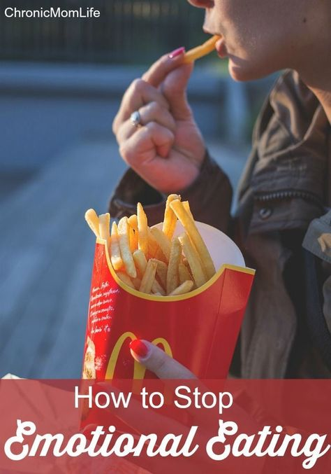 The first step to conquering emotional eating is admitting that there is a problem. Here's some helpful tips I've found that anyone can use to help stop emotional eating.