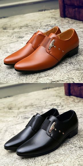 Office Men Dress Shoes Pointed Toe