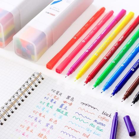 12 24pcs Washable Watercolor Pen From 5 Pen Stationery Student