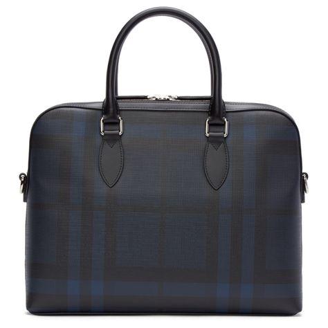 17eec9102b34 Burberry London - Black   Blue Check Bermondsey Briefcase