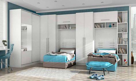 die besten 25 quarto de solteiro modulado ideen auf pinterest kleine schlafzimmer ideen - Kleine Schlafzimmerideen Mit Lagerung