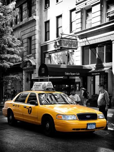 Yellow Taxi Cab Union Square Manhattan New York United States Photographic Print Philippe Hugonnard Art Com In 2020 Taxi Cab Yellow Taxi Yellow Taxi Cab