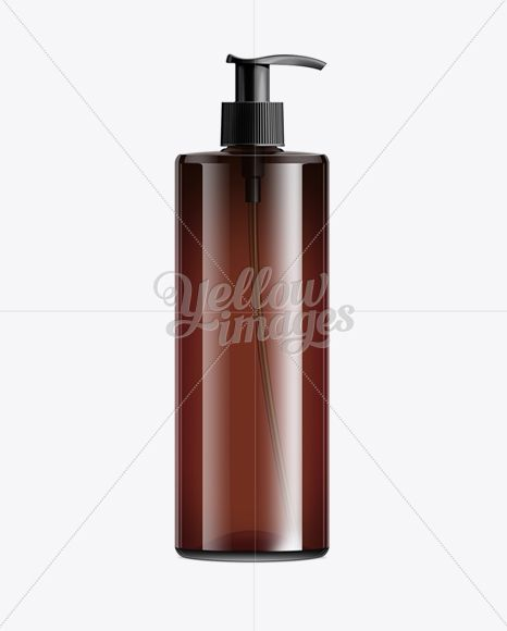 Download Brown Cosmetic Bottle With Batcher 500ml In Bottle Mockups On Yellow Images Object Mockups Cosmetic Bottles Cosmetics Mockup Bottle Mockup PSD Mockup Templates