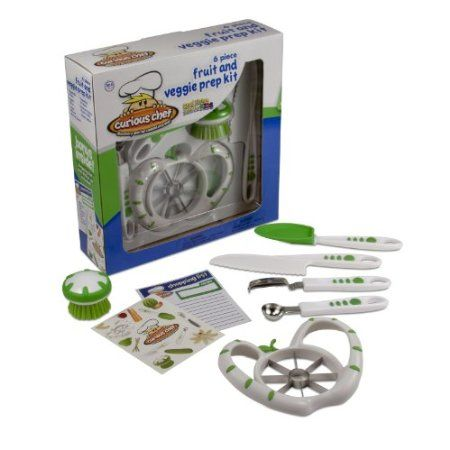 Amazon.com: Curious Chef Kids 6-Piece Fruit and Veggie Prep Kit: Kitchen & Dining everything from this company
