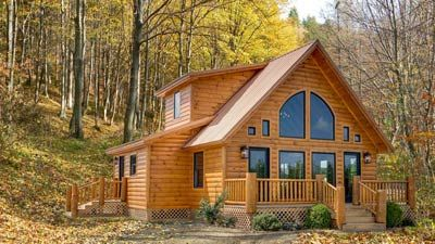 Dillons Run Is A Great Log Cabin With 1201 Square Feet In 1 1 2 Stories 2 Bedrooms And 3 Baths The Cozy Loft Is Log Homes Log Cabin Homes Cabins In The Woods