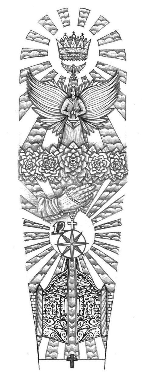 7a1004d8f Religious Gates of Heaven tattoo design by thehoundofulster on DeviantArt  -- saving for sleeve size