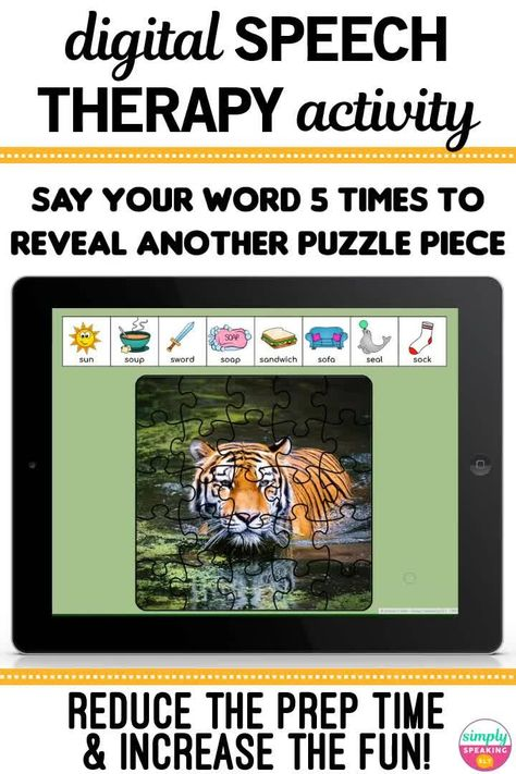 Articulation Puzzles - No Print Digital Games for Speech Therapy