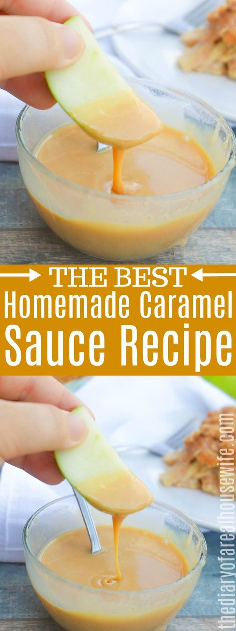 Homemade Caramel Sauce. This is SO EASY to make! You are going to love it. #homemadecaramel #easyrecipe