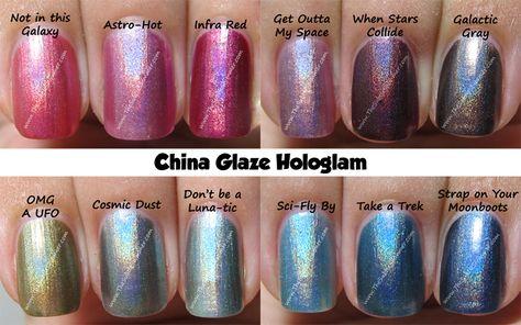 China Glaze Hologlam 2013 Spring Collection