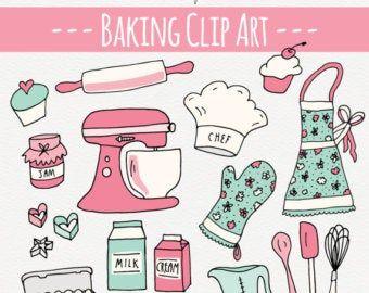 Kawaii Küche Clipart Kawaii Kochen clip Art süße Küche  Etsy