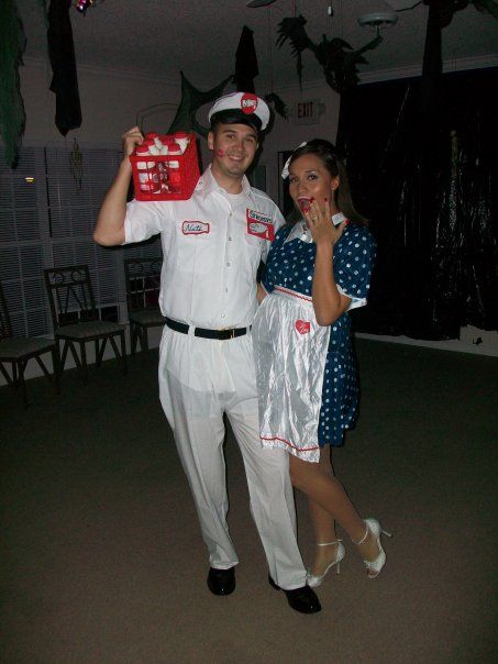 For an easy pregnancy halloween costumethe housewife and the milk - halloween costume ideas for pregnancy