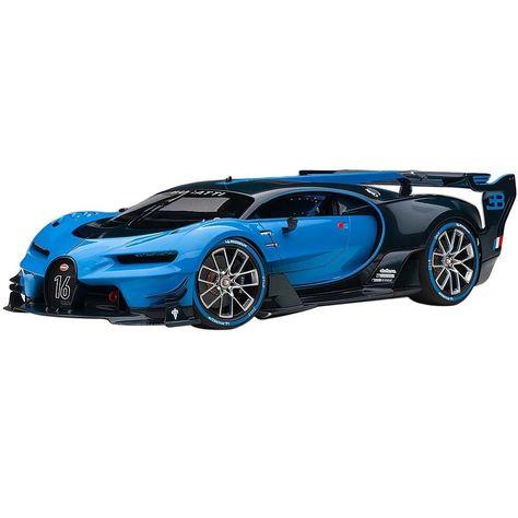 Bugatti Vision Gran Turismo Bugatti Light Blue Racing and Blue Carbon Fiber Model Car by Autoart Cool Sports Cars, Super Sport Cars, Super Cars, Bugatti Cars, Lamborghini Cars, Ferrari F80, Sexy Cars, Hot Cars, Custom Porsche