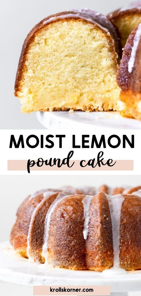 This lemon pound cake is supremely moist, like the name says, and is the only lemon treat you need to make this summer! This lemon pound cake has a light glaze that gets infused into the cake and the lemon icing adds a whole other level of lemon deliciousness that you can't skip out on. #poundcake #moist #lemonpoundcake #summertreats #lemondesserts #lemoncake