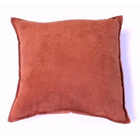 Faux Suede Single Decorative Pillow