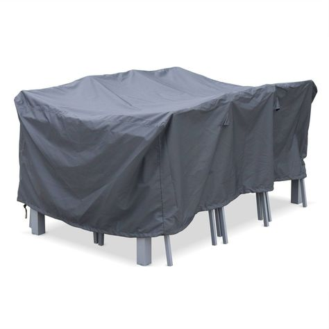Housse De Protection 175x124cm Gris Fonce Polyester Pour Tables De Jardin Chicago Orlando Bergamo Table De Jardin Tables De Patio Housses