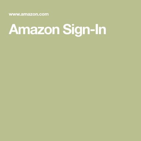 Amazon Sign-In