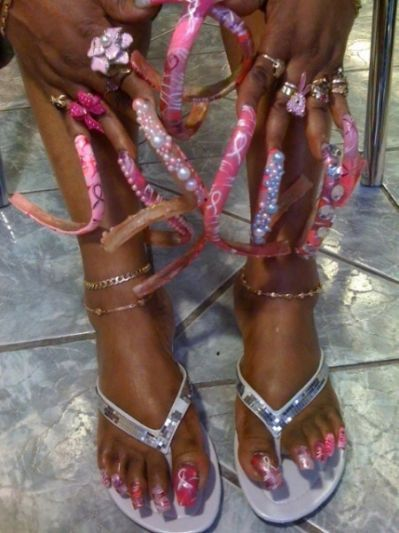 Doobys Nails Extra Long Barbie Curved Nails Long Toenails Crazy Nails