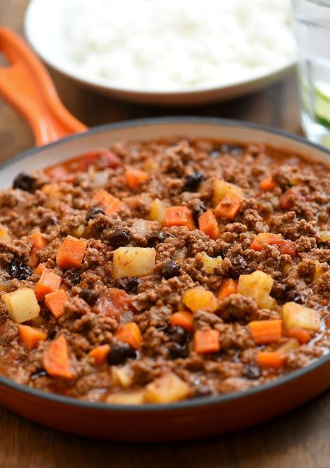 Filipino Style Picadillo With Potatoes Recipe Best Ground Beef Recipes Easy Meat Recipes Ground Beef Potatoes