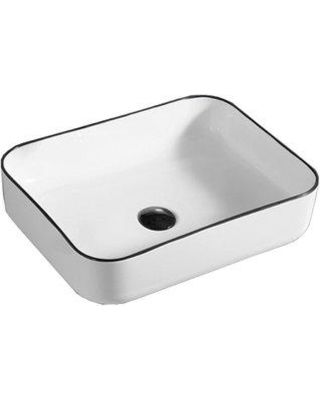 Hometure Hometure Above Ceramic Rectangular Vessel Bathroom Sink Ceramic Sinks In White Size 20 H X 16 W Wayfair Hs 0003 From Wayfair Bhg Com Shop Bathroom Sink Sink Rectangular