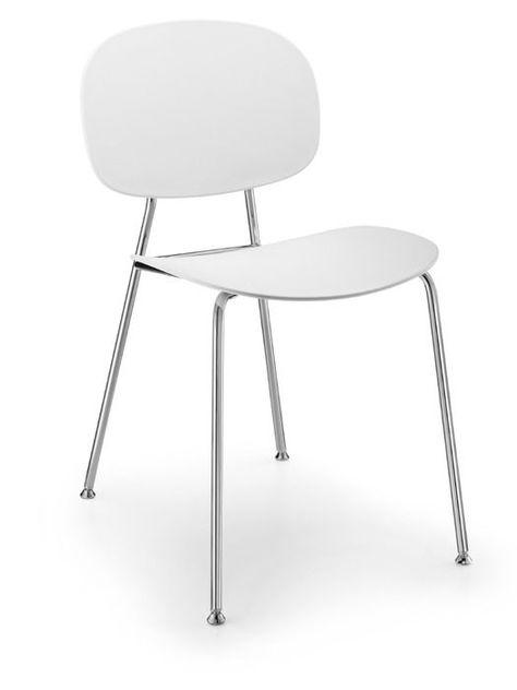 Infiniti Stuhl Tondina POP Weiß Kunststoff