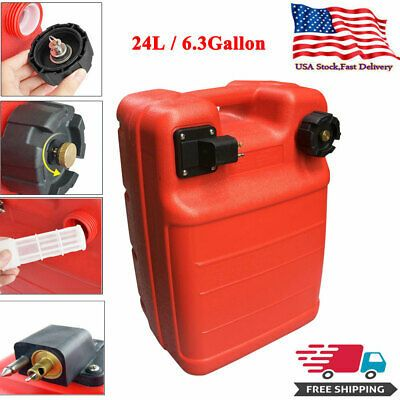 Sponsored Ebay 24l Portable Boat Fuel Tank For Yamaha Marine Outboard Fuel Tank W Connector Us Gas Cans Fuel Oil Petrol