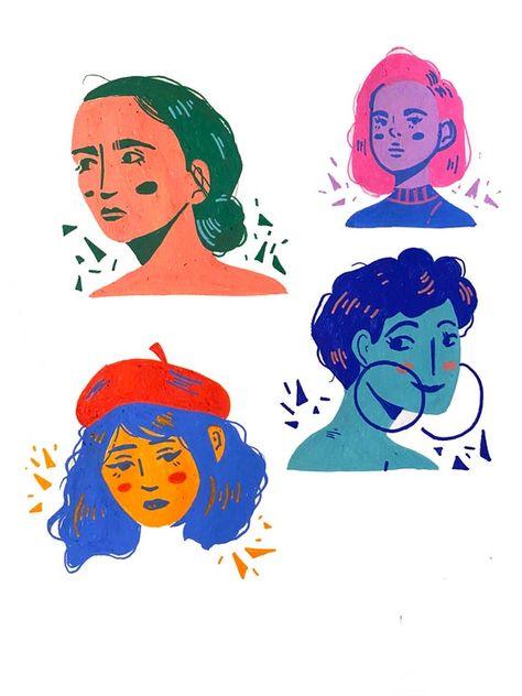 Some POSCA doodles I did! Character Illustration, Graphic Illustration, Illustrations, Magazine Illustration, Illustration Styles, Posca Marker, Marker Art, Arte Pulp Fiction, Doodles Bonitos