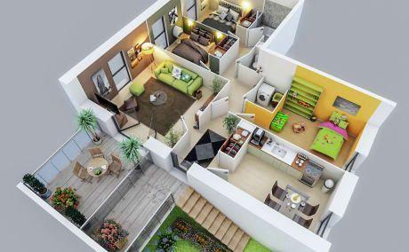 Do 3d Floor Plan Interior Exterior Rendering By Surrayashabbir Bedroom House Plans Home Design Plans Small House Design