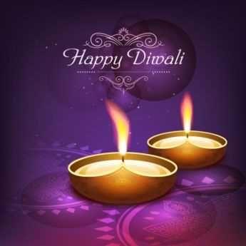 Free Vector Traditional Happy Diwali Logo On Purple Poster Template Diwali Poster Diwali Greetings Happy Diwali Images