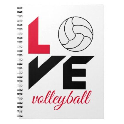 I Love Volleyball Notebook Love Gifts Cyo Personalize Diy Volleyball Notebook Notebook Notebooks Journals