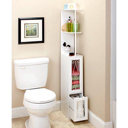 Home Small Bathroom Storage Wooden Storage Cabinet Bathroom