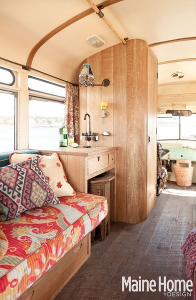 remodeled bus. kind of cool in a hippy sort of way