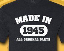 Made In 1945 Birthday T Shirt