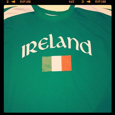 e3be3b0eb Ireland soccer jersey - a simple flag design and Ireland in arched celtic  type on a Kelly green soccer jersey. Just a wee bit of the irish.