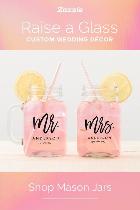 Wedding Mason Jars - Zazzle
