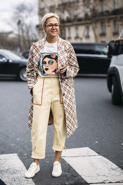 Attendees at Paris Fashion Week Fall 2018 - Street Fashion