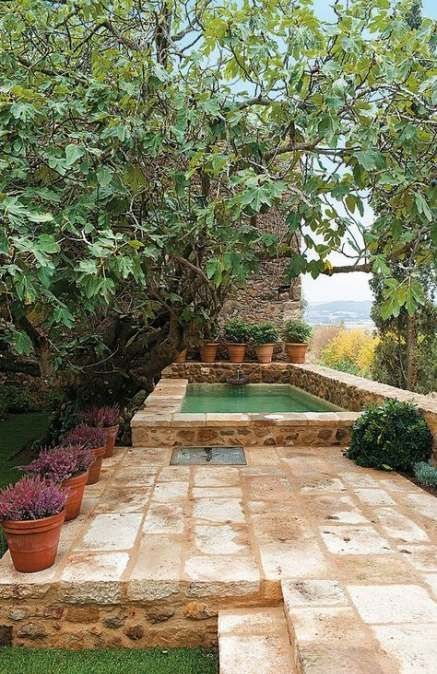 48 Ideas Garden Patio Stone Backyard Ideas Garden Backyard