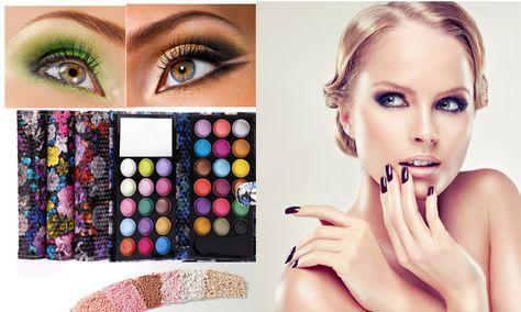 MISS DOOZY 16 Color Eyeshadow Plate Balm Blush Glitter