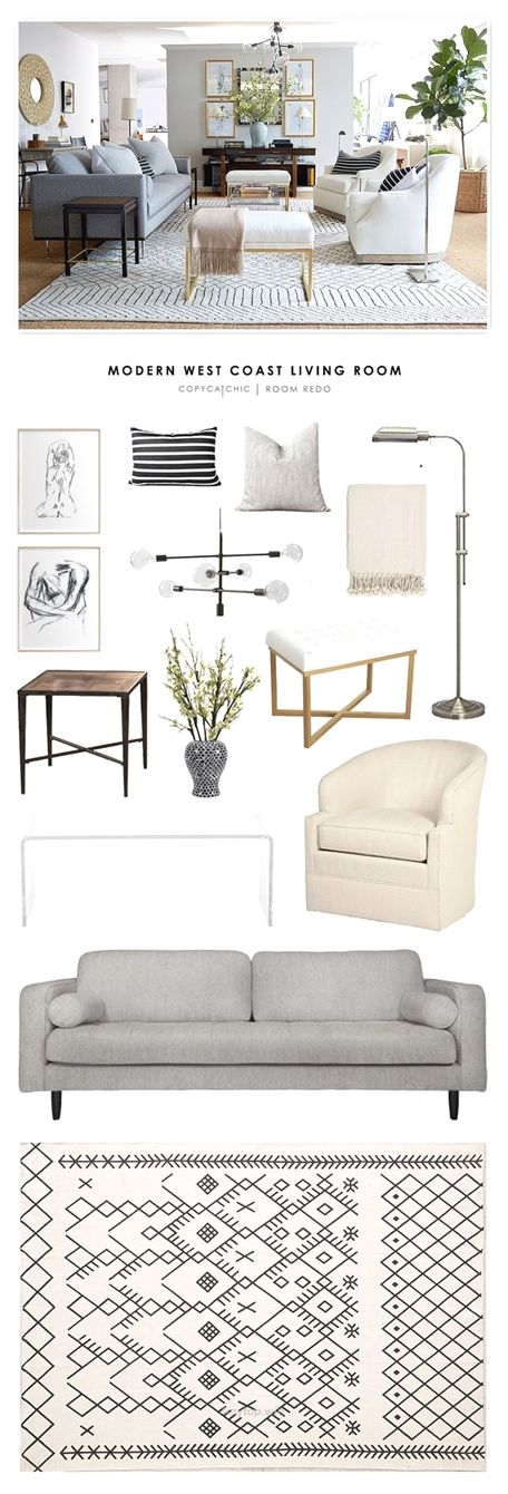 This eclectic and contemporary living room designed for the One Kings Lane studio in San Francisco g