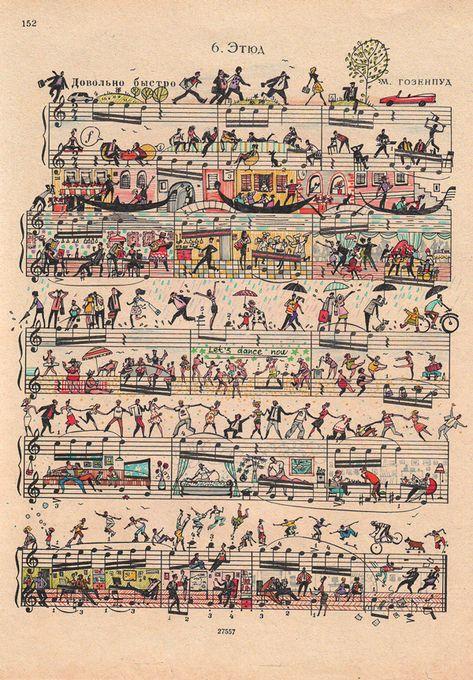 Juxtapoz Magazine - Sheet Music Art by Mike Lemanski