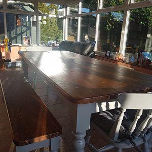 Farmhouse Dining Table 8ft X 2ft New Narrow Handmade Bespoke Pine