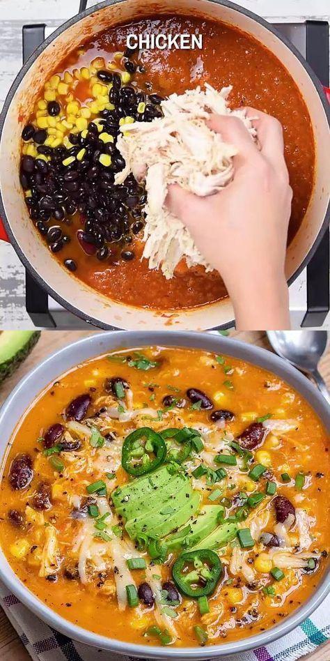 Creamy Chicken Enchilada Soup